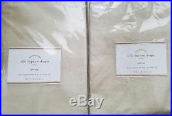 2 Pottery Barn Silk Dupioni Pole Pocket Drapes 50 X 96 SAHARA