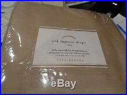 2 Pottery Barn Silk Dupioni drape panel blackout 50 X 108 parchment New