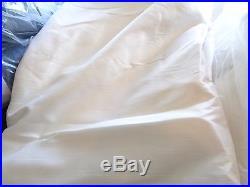 2 Pottery Barn Silk Dupioni drapes panels 104 X 84 doublewide blackout ivory
