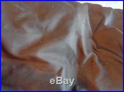 2 Pottery Barn Silk Dupioni drapes panels 50 X 84 brown New
