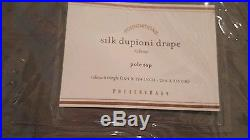 2 Pottery Barn Silk Dupioni drapes panels blackout 104 124 flagstone gray grey