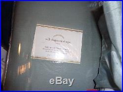 2 Pottery Barn Silk Dupioni drapes panels blackout 104 96 blue Dawn New wo tag