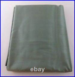2 Pottery Barn Soft Green Dupioni Silk Panels 50 Inch x 84 Inch Drapes Curtains