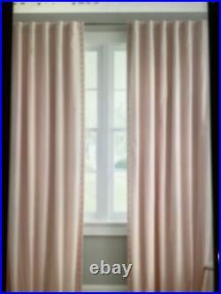 2 Pottery Barn Teen Emily & Meritt Studded Blackout Curtain Nude Blush 84#1493