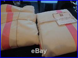 2 Pottery Barn Teen Suite Ribbon drapes panels bright pink blackout52 X 96 New