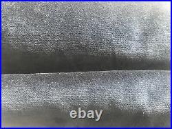(2) Pottery Barn Velvet Twill Rod Pocket Curtain Drapes 50 x 108 Navy Blue S/2