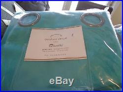 2 Pottery Barn indoor outdoor drapes grommet aruba blue 50 124 Sunbrella New