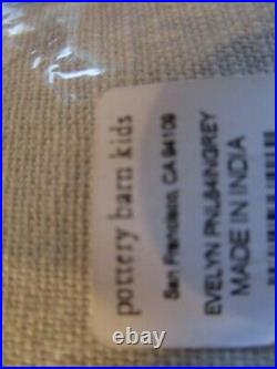 2 Pottery Barn kids Evelyn gray grey drapes panels curtains 44 84 blackout New