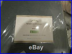 2 Pottery Barn velvet twill curtains drapes 50 84 chateau blue New