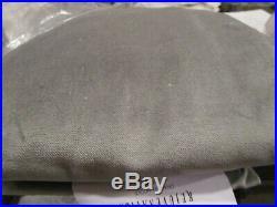 2 Pottery Barn velvet twill curtains drapes 50 96 flagstone gray grey New