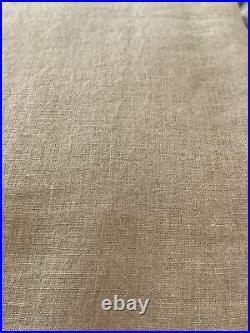 2 pottery barn belgian flax linen 84 dark flax curtains #1329