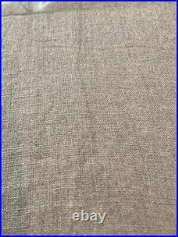 2 pottery barn belgian flax linen curtains dark flax #1457