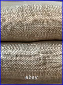 2 pottery barn emery curtains 96 oatmeal #1459