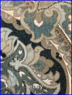 2 pottery barn mackenna curtains 84 blue #1458