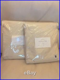 2pc POTTERY BARN Dupioni Silk Pole Pocket Drape Panels 104x96 Sahara NEW