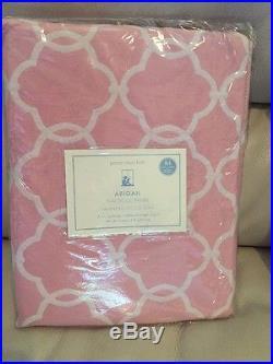 2pc Pottery Barn KIDS ABIGAIL BLACKOUT PANELS Pink 44X84 NWT