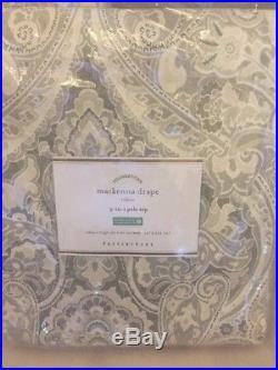 2pc Pottery Barn Mackenna Drapes Taupe 96 Curtain Pair Medallion Mckenna New