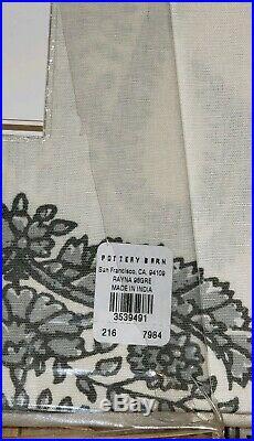 2pc Set Pottery Barn Rayna Drapes Gray 96L Paisley Panels Curtains Bhotah New