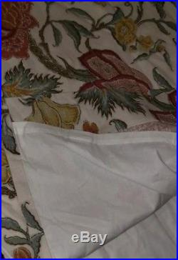 2pc Set Pottery Barn Set Cynthia Floral Drapery Ivory 96L Curtains Panels