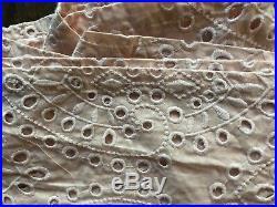 2x$99 Pottery Barn Teen Emily & Meritt Eyelet 2 Curtains Panels 44x96 Nude Blush