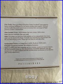 $318 2pcs Pottery Barn Ivory Belgian Flax Linen Curtain Drape Panel Set 50x108