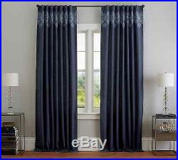 4 New Pottery Barn Lucia Embroidered Blue Lined Drapes Curtains Panels 96 Nwt