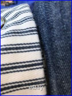 4 Pottery Barn 100% Cotton Lined Striped Drapery panels, Grommets Good Quality