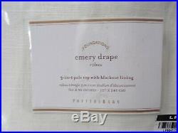 4 Pottery Barn Emery Linen Drapes Panels Curtain Blackout 50 x 96 Ivory #4024