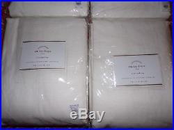 4 Pottery Barn Emery Linen/cotton Pole Pocket Drapes, White, 96, New