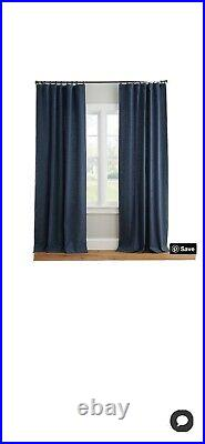 4 Pottery Barn Emery Linen curtains, Excellent