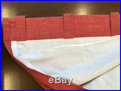4 Pottery Barn Linen Emery Curtains Drapes 50 X 84