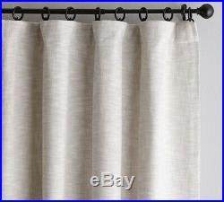 4 Pottery Barn Oatmeal Cotton Linen Weave Textured Drape Panels 50 X 84