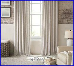 4 Pottery Barn Oatmeal Cotton Weave Textured Drape Panels 50 X 84