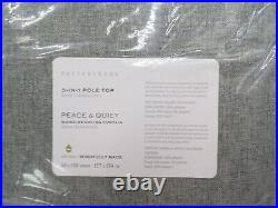 4 Pottery Barn Peace Quiet Noise-Reducing Blackout Curtain Drape Gray 50x108 F6
