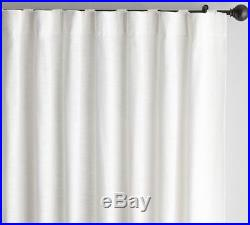 4 Pottery Barn Seaton Textured Drapes, 84, White, New, 4 Panels