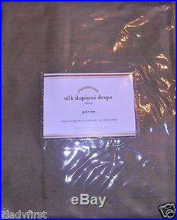 4 Pottery Barn Silk Dupioni Pole Pocket Drapes 50 X 84 BROWNSTONE