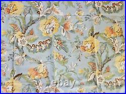4 Pottery Barn Vanessa Curtain Panels Fabric Linen Floral 50x84