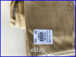 6 Pottery Barn Silk Dupioni Gold Curtains/Drapes 50 X 84