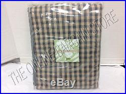 Ballard Designs Check Gingham Drapes Panels Curtains With Valance GRAY 54x84