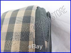 Ballard Designs Check Gingham Drapes Panels Curtains With Valance GRAY 54x96