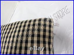 Ballard Designs Check Gingham Drapes Panels Curtains with Valance Black 54x95