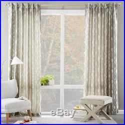Brushstroke Ogee Jacquard Curtain 48Wx84L in Soot From West Elm/Pottery Barn