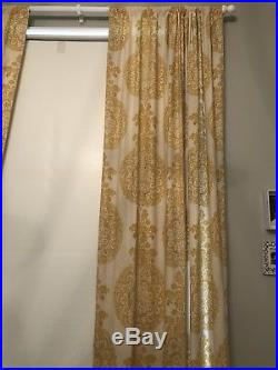 EUC Pair of Pottery Barn Curtains Lined 50 by 108