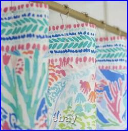 Lilly Pulitzer Pottery Barn Kids Shower Curtain In MERMAID'S COVE New 72 x 72