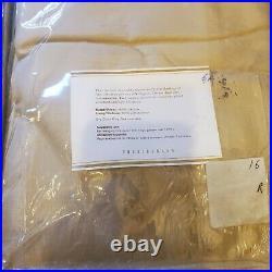 Lot of 2 Pottery Barn Dupioni Silk Curtain Pole Rod Pocket Drapes 50 x 84 Beige