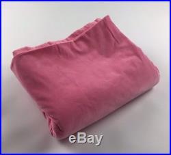 Lot of 3 PB Pottery Barn Teen Pink Velvet Velour Drapes Curtains 52 W 84 L Rare