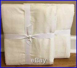 NEW 2PC Pottery Barn Linen Silk Blend Pole Top 50x96 Drape IVORY