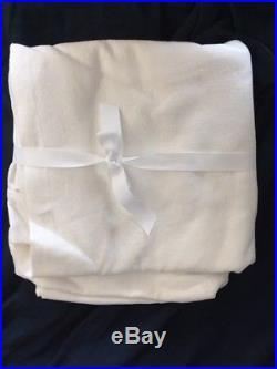 NEW 2 POTTERY BARN PEYTON LINEN Drapes 50x96 COTTON LINING WHITE 2 PANELS