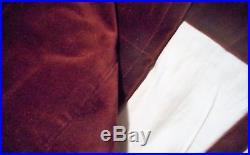 NEW PAIR Pottery Barn Burgundy Merlot Wine Velvet Curtain Panels each 50 x 108