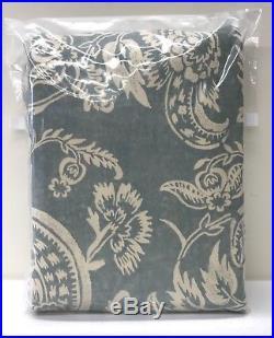 NEW Pottery Barn Alessandra Floral 50 x 96 BLACKOUT Drape Panel, BLUE